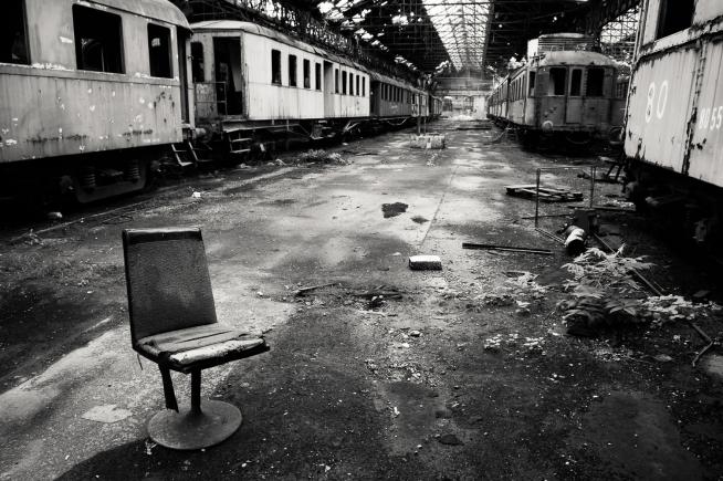 Train yard in Budapest