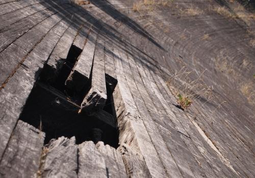 Wooden Soviet-era velodrome